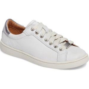 UGG Milo Sneaker White Silver Leather 8